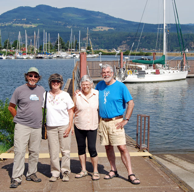 Chip, Kit, Craig & Barbara in Hood River